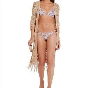 Melissa odabash  snake print triangle bikini